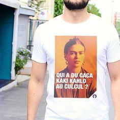 Un #tshirt qui Mexique beaucoup  monsieurtshirt.com  #fistsetlettres #desfistsetdeslettres #ootd #kahlo #cadeau #color #orange #trend #humour #jeudemots #caca