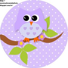 Montando a minha festa: Corujinha floral Owl Classroom, Scroll Saw Patterns Free, Whimsical Owl, Felt Books, Bottle Cap Images, Owl Art, Baby Owls, Cute Owl, Cute Characters