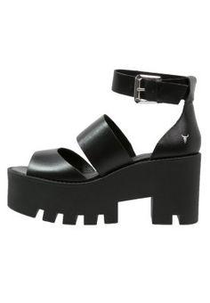 PUFFY - Sandały na platformie - black
