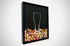 Beer Cap Shadow Box---but I think you could adapt it for a SWAG container.