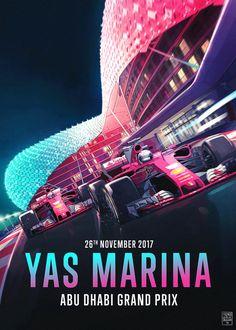 Scuderia Ferrari's poster and cover art for the 2017 Abu Dhabi Grand Prix, the final event of the 2017 Formula 1 season. Artwork by French Carlomagno Formula 1, Nascar, Hungarian Grand Prix, Stock Car, Abu Dhabi Grand Prix, Japanese Grand Prix, Gp F1, F1 2017, Ayrton Senna