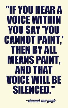 Vincent Van Gogh Inspirational Quote