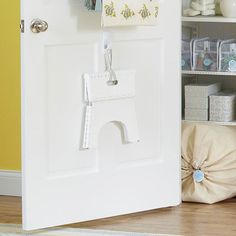 Top Shelf Solution-Slip a slim step stool inside the linen closet so you can easily make use of the top shelves. If you can't reach it, you won't use it. Where do I find a folding step stool? Bathroom Organization, Organization Hacks, Organizing Ideas, Organising, Tall Shelves, Shower Curtain Sets, Storage Solutions, Storage Ideas, Smart Storage