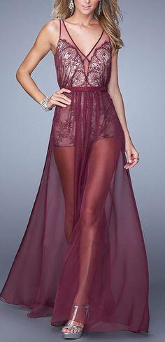 Bordeaux Sheer Gown