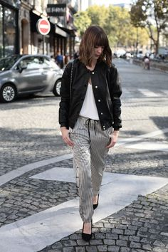 Marie from IYC : http://intoyourcloset.blogspot.fr/2014/11/take-your-pjs-out.html