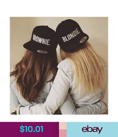 Retro Styles Blondie brownie SnapBack hat - super cool blondie brownie SnapBack hat embroidery style text choose from blondie or brownie or pair up with your bff or sister for a cute gift idea! Bff Pics, Photos Bff, Bff Pictures, Best Friend Pictures, Friend Photos, Best Friend Fotos, Best Friend Outfits, Best Friend Stuff, Shooting Photo Amis