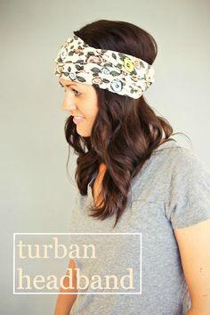 DIY tutorial for cute Turban Headwrap