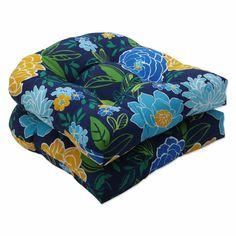 Red Barrel Studio Spring Bling Blue Indoor/Outdoor Seat Cushion | Wayfair Wicker Furniture Cushions, Outdoor Dining Chair Cushions, Blue Pillows, Perfect Pillow, Shades Of Blue, Bling Bling, Barrel, Fill