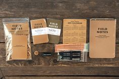 field notes / Two Inch Cuffs Cultural Probes, Promo Gifts, Cool Journals, Moonrise Kingdom, Nursing Assistant, Pocket Notebook, Field Notes, Pencil And Paper, Design Research