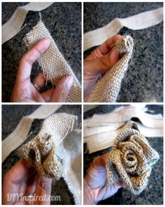 Create cool DIY burlap flowers to adorn any space in your home this fall.
