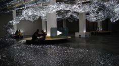 Installation inaugurale du rez-de chaussée de la Fondation d'entreprise Martell à Cognac.  Une œuvre immersive et interactive, de grand…