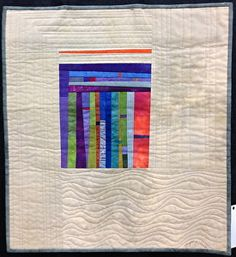 looks like mini quilt - like the machine quilting Small Quilts, Mini Quilts, Scrappy Quilts, Quilting Projects, Quilting Designs, Quilting Ideas, Art Quilting, Hanging Quilts, Quilt Modernen