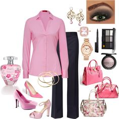 Pretty Pink by lulurose98 on Polyvore