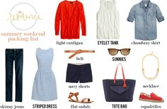In Residence | summer packing list: cottage suitcase
