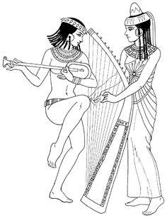 Los antiguos egipcios mujeres músicos