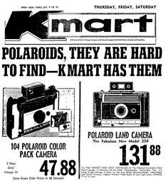 Kmart Polaroid Cameras - December 1966