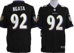7d26fcdf3 Nike Baltimore Ravens Haloti Ngata Black Alternate With Art Patch Men s  Stitched NFL Game Jersey
