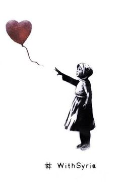 Bansky con Siria / Banksy rewoeks one of his images for the organization With Syria. march, 2014
