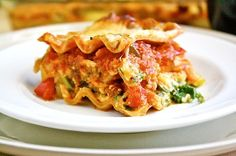 Whole Wheat Vegetable Lasagna - made this for dinner tonight. Added chicken sausage to the sauce. Was amazing and can't wait to have leftovers tmrw! Healthy Vegetable Lasagna, Vegetable Lasagne, Veggie Lasagna, Veggie Recipes, Vegetarian Recipes, Healthy Recipes, Low Carbohydrate Diet, Pasta Dishes, Healthy Eating