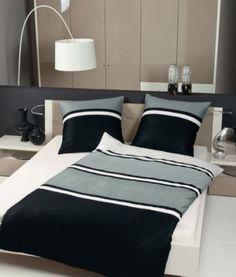 Janine J.D wit zilvergrijs zwart wit gestreept 8446 08 katoen satijn luxe lange instopstrook 140 x 200 ,260 cm