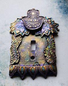 Hamsa light switch cover