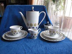 Germany Bavaria Teapot tea coffe pair cup saucer creamer sugar bowl service set #Bavaria