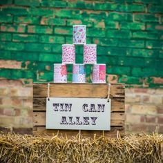 tin can alley for hire in Lincolnshire area. Vintage Fete games and decorations to create the perfect outdoor space Festival Garden Party, Festival Themed Party, Festival Wedding, Diy Festival, Festival Games, Party Garden, Vintage Wedding Games, Vintage Party, Diy Wedding
