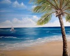 tropical canvas prints aqua - Google Search