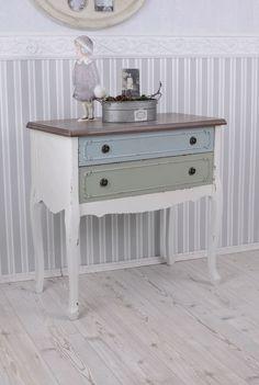 Kommode Shabby Chic Nachttisch Antik Stil Schubladenkommode Vintage