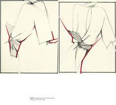 Gianfranco Ferre Disegni - Fondazione Gianfranco Ferré Fashion Sketchbook, Fashion Sketches, Fashion Drawings, Fashion Illustrations, Ferrat, Gianfranco Ferre, Poses, Thesis, My Style