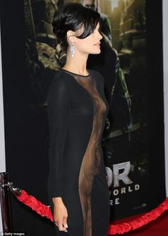 THOR Premiere - Not a good angle: The dress was the most explicit when Jaimie…