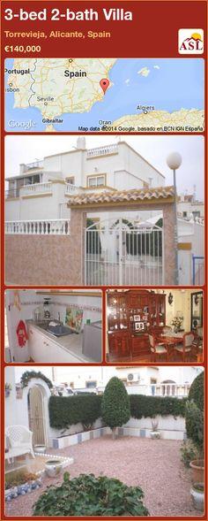 3-bed 2-bath Villa in Torrevieja, Alicante, Spain ►€140,000 #PropertyForSaleInSpain