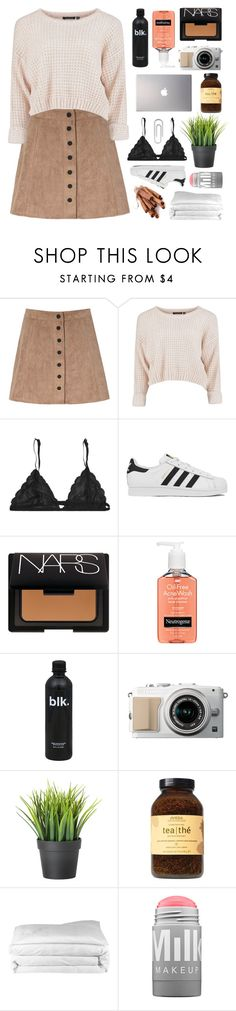"""""""inspired by @orchid-fire"""" by deep-breaths ❤ liked on Polyvore featuring Glamorous, adidas, NARS Cosmetics, Neutrogena, Clayton, Aveda, Samsung, Frette, MILK MAKEUP and Bulgari"""