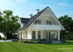 Image may contain: house, sky and outdoor Beach House Plans, Dream House Plans, Small House Plans, House Floor Plans, Modern Bungalow Exterior, Modern Bungalow House, Modern House Design, Style At Home, Brick Wallpaper Living Room