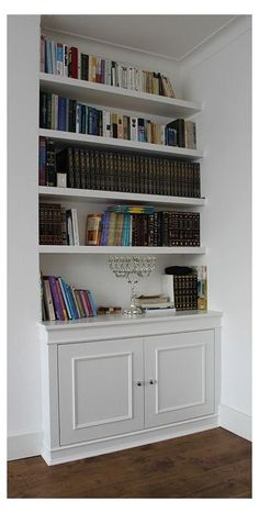 Living Room Shelves, Living Room Storage, New Living Room, Built In Cupboards Living Room, Alcove Ideas Living Room, Alcove Storage, Alcove Shelving, Storage Ideas, Alcove Cupboards