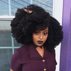 kinky afro natural hair by ronkeraji with hergivenhair #naturalhairstyles
