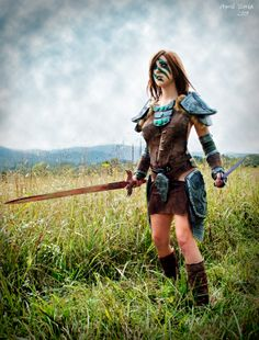 Aela the Huntress from The Elder Scrolls V: Skyrim. cosplay by April Gloria www.facebook.com/aprilgloriacosplay