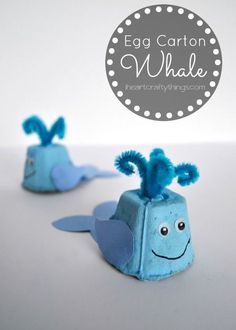 Carton Whale Craft for Kids Make a cute Whale Kids Craft out of an egg carton. Fun craft for kids and a way to re-purpose an egg carton.Make a cute Whale Kids Craft out of an egg carton. Fun craft for kids and a way to re-purpose an egg carton. Ocean Kids Crafts, Whale Crafts, Crafts For Kids To Make, Toddler Crafts, Art For Kids, Recycled Crafts Kids, Ocean Themed Crafts, Kids Diy, Recycle Crafts