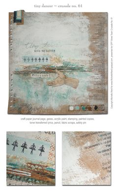 Awesome monthly Art Journal challenge hosted by Michelle Ward. Unfortunately, the challenges will be suspended for awhile. This blog is a great resource!! :)