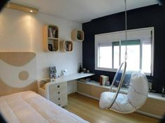 Recursos para cambiar de habitación: de niños a adolescentes – Deco Ideas Hogar Tumblr Rooms, Teenage Room, Guest Room Office, House Rooms, Boy Room, Kids Bedroom, Home Furnishings, Living Spaces, Room Decor