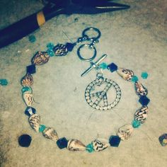 finished ankel bracelet