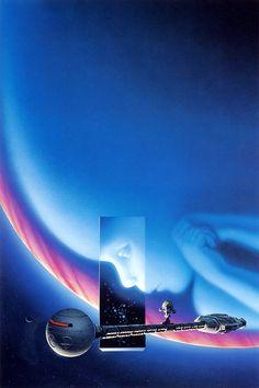 Cover art by Michael Whelan for Arthur C. Clarke's '2010'.