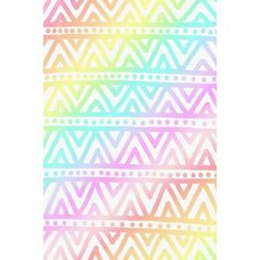 Pastel Rainbow Aztec Wallpaper Liked On Polyvore Featuring Backgrounds