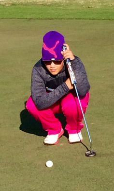 Izzy M. Pellot putting in work just before her Tournament (No Caddy) Go Izzy!!!!!!