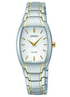 Seiko Womens SUP260 Analog Display Analog Quartz Two Tone Watch ** Details can be found by clicking on the image.