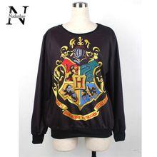2015 malha 3D Harry Potter Hogwarts camisola sudaderas mulher / homem Hoodies camisolas para moletom WYS1041(China (Mainland))