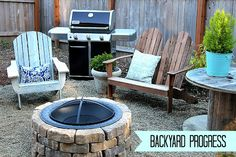 Simple DIY Firepit and Backyard Makeover Progress