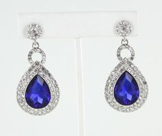LIKE us on Facebook:  www.facebook.com/LnMBling and visit our online store at www.LMBling.com pageant earrings | prom earrings | wedding earrings | blue earrings | sapphire earrings | sapphire blue earrings | royal blue earrings Direct Link to Our Blue Collection:  http://www.lmbling.com/#!blue/cq97