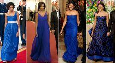michelle obama kobalt Deep Winter, Michelle Obama, Cobalt, One Shoulder, Dark, Formal Dresses, Fashion, Moda, Formal Gowns