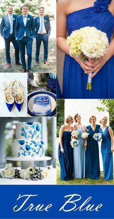 elegant wedding color palettes in shades of blue